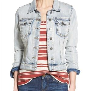 Kut large lightwash denim jacket